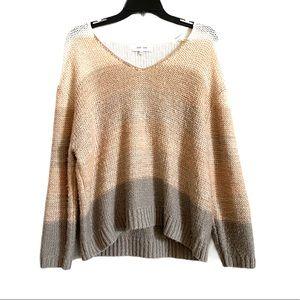 John+Jenn Revolve Neutral Color Block Knit Sweater
